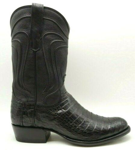 Tecovas, Black, Dillon, Exotic, Caiman, Crocodile, Belly, Cowboy, Western, Boots, 9, EE