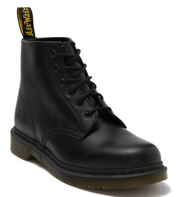 Dr. Martens Men's 101 US 14 M / UK 13 Black Smooth Leather 6 Eye Boots