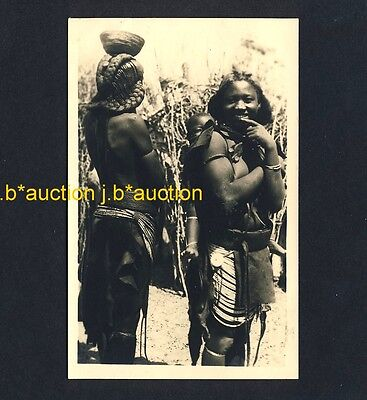 South Africa YOUNG ZULU WOMEN & BABY Hairstyle Frisur * Ethnic Nude 50s RPPC AK ()