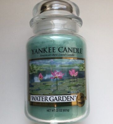 Yankee Candle WATER GARDEN 22 OZ. LARGE JAR HTF SCENT RETIRED for sale  Itasca