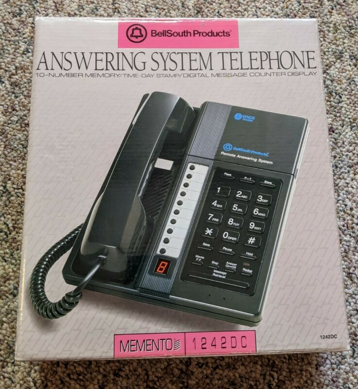 BellSouth Products Momento Model 1242DC Answering System Telephone BLACK