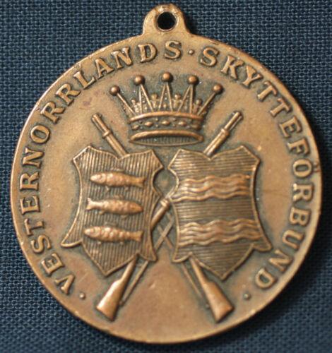 1911 Vesternorrlands Skytteförbund Shooting Club För Fosterlandet Medal Sweden