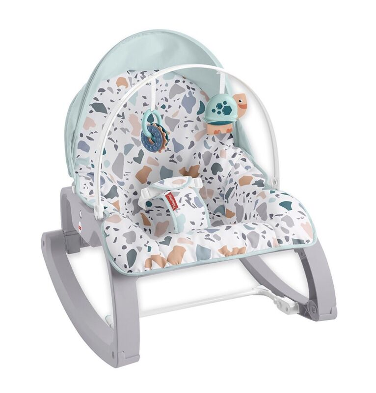 Fisher-Price Deluxe Infant-to-Toddler Rocker Seat, Blue Pacific Pebble - NEW