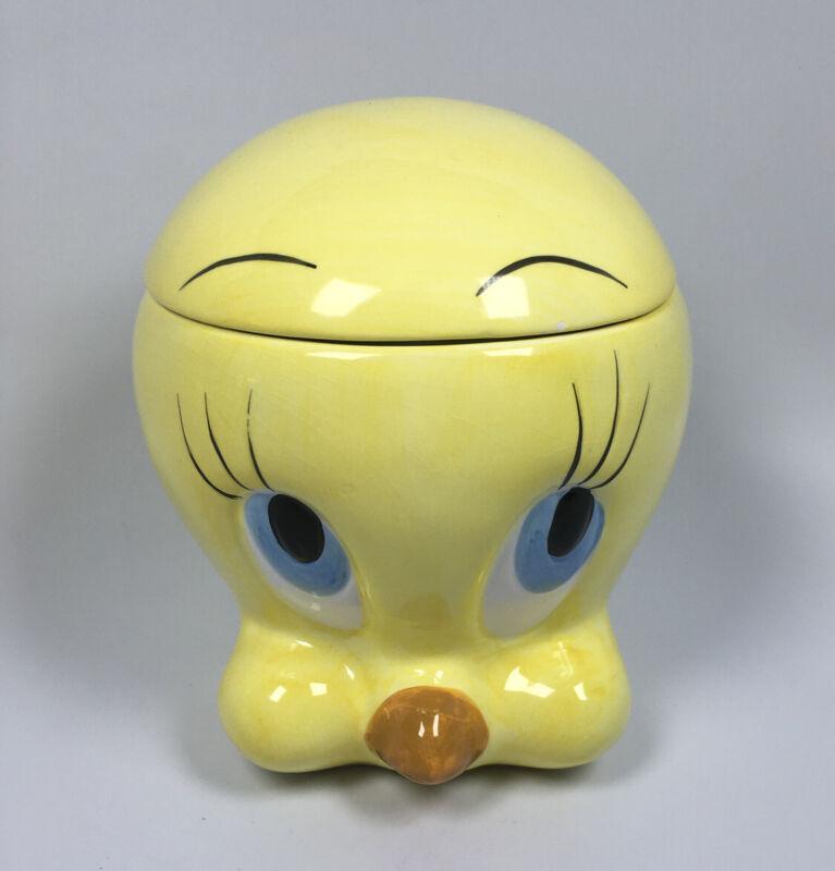 Ceramic Tweety Bird Cookie Jar Head Warner Brothers Looney Tunes Yellow