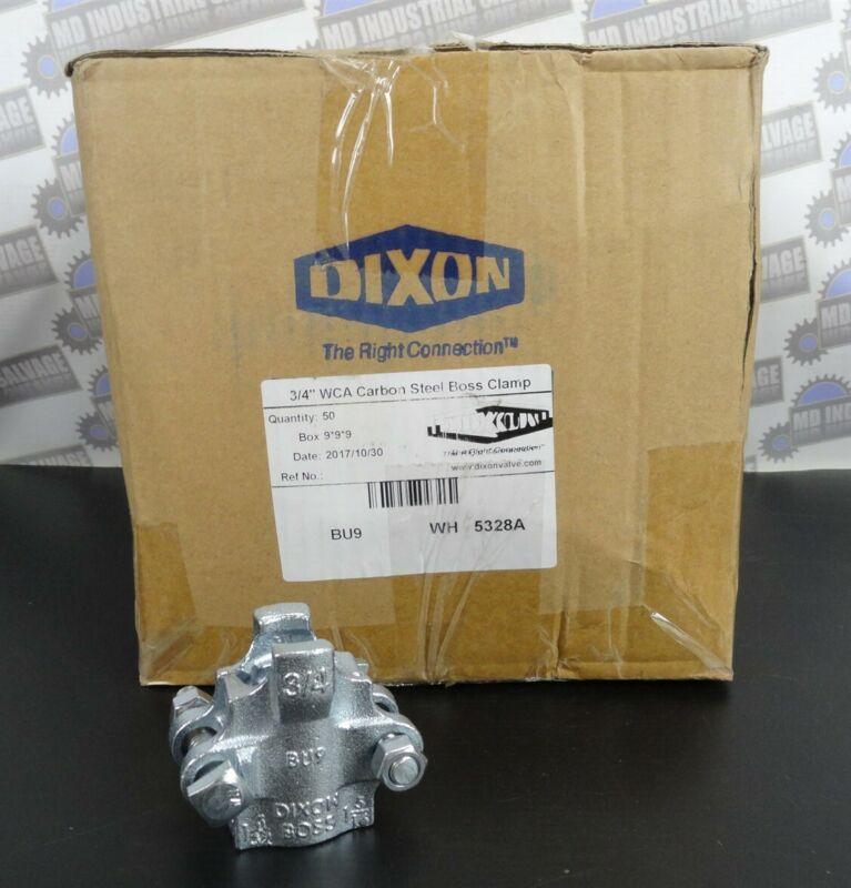 "(Box of 50) DIXON - BU9 BOSS CLAMP, 2 Bolt Type - ¾"" HOSE I.D. CAST CARBON STEEL"
