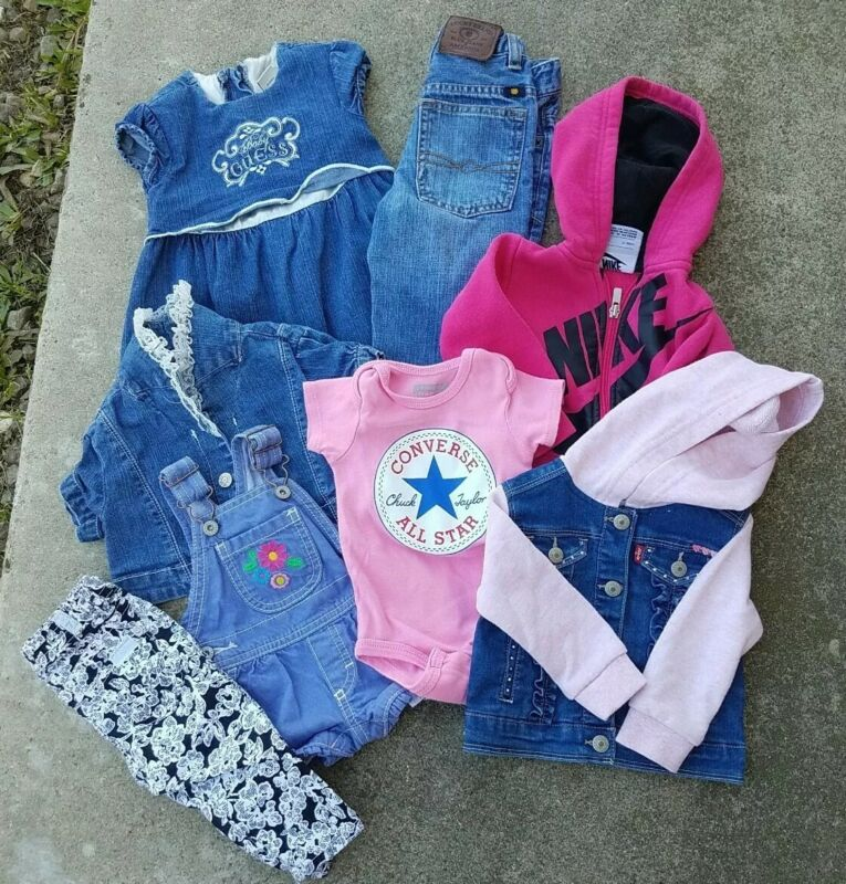 Baby Girl Clothes Lot Of 8 Pieces Size 0/3month - 2t All Used