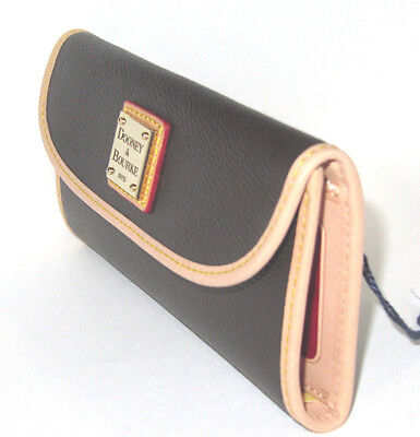Fabric Continental Wallet - Dooney & Bourke Carley Brown Canvas Coated Continental Clutch Wallet NWT $118