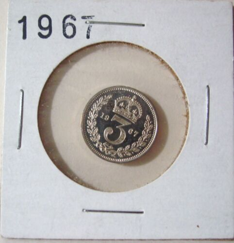 1967 G.B. MAUNDY COIN 3 PENCE