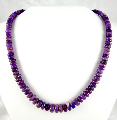 gem gel sugilite bead necklace