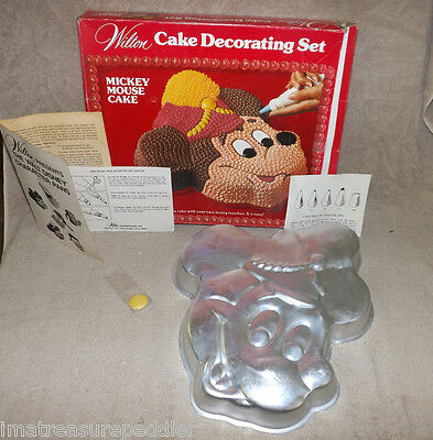Mickey Mouse Cake Pan Wilton Bandleader 1976 #515-302 Disney Baking Birthday - Mickey Mouse Birthday Cake Pan