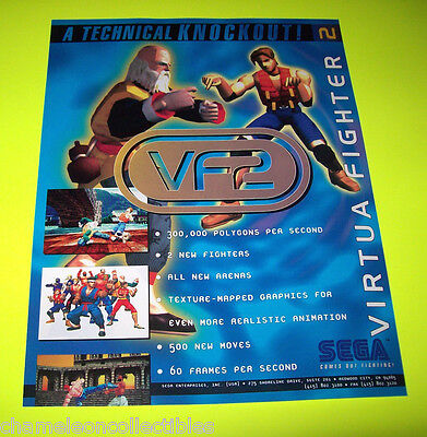 Collectibles Arcade, Jukeboxes & Pinball 1995 Sega Sega Virtual On Video Flyer Mint To Be Distributed All Over The World