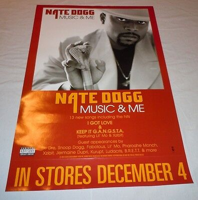 NATE DOGG~Music & Me~18x24 Promo Poster~Excellent Condition