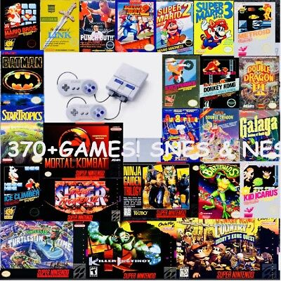 Super Nintendo Classic Edition Snes Mini Modded 371  Games From Snes And Nes