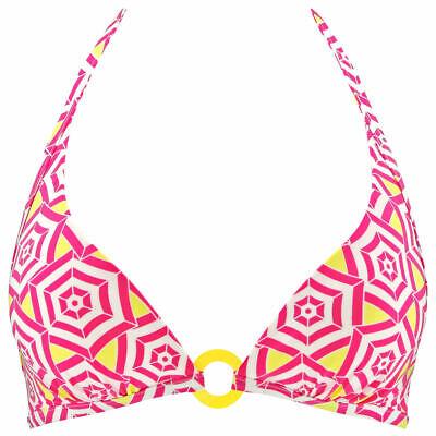 L (14) Passionata Por Chantelle Sombrillas Suave Taza Escotado Halter Top Bikini