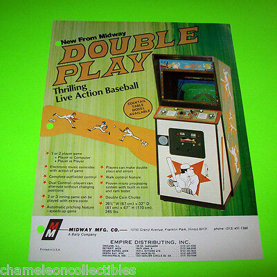 DOUBLE PLAY By MIDWAY 1977 ORIGINAL VIDEO ARCADE GAME SALES FLYER BROCHURE