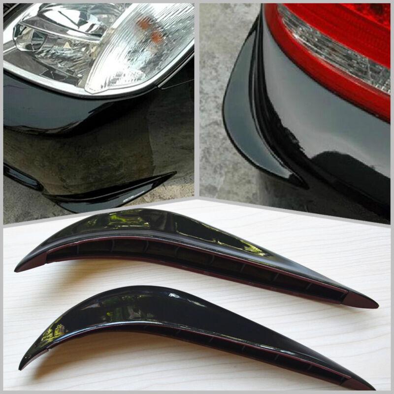 Black Car SUV Streamline Protection Bumper Anti-rub Crash 3M Sticker Cover Bar