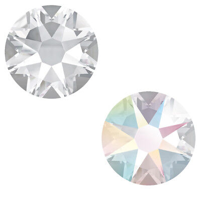2058 Crystal (Original SWAROVSKI 2058 & 2088 Strass Kein Hotfix * Kristallklar & Crystal AB)
