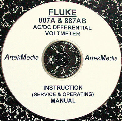 Fluke 887a 887ab Acdc Differential Voltmeter Instruction Manual Ops Service