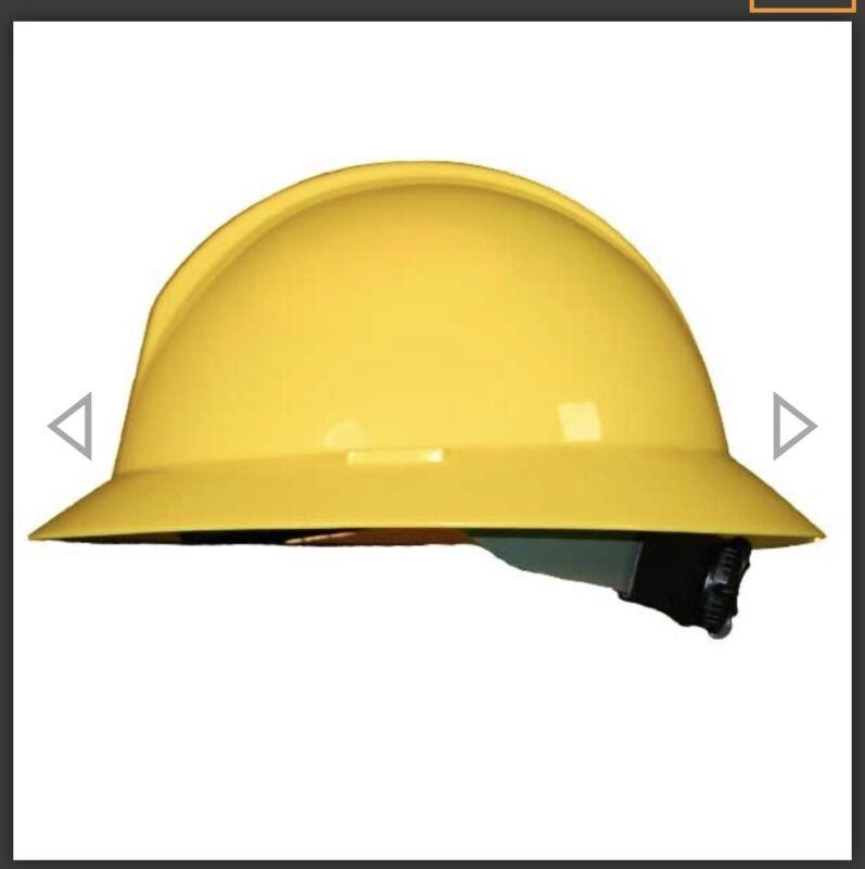 HONEYWELL NORTH A119R Full Brim Hard Hat Type 2 Ratchet Suspension Yellow ClassE