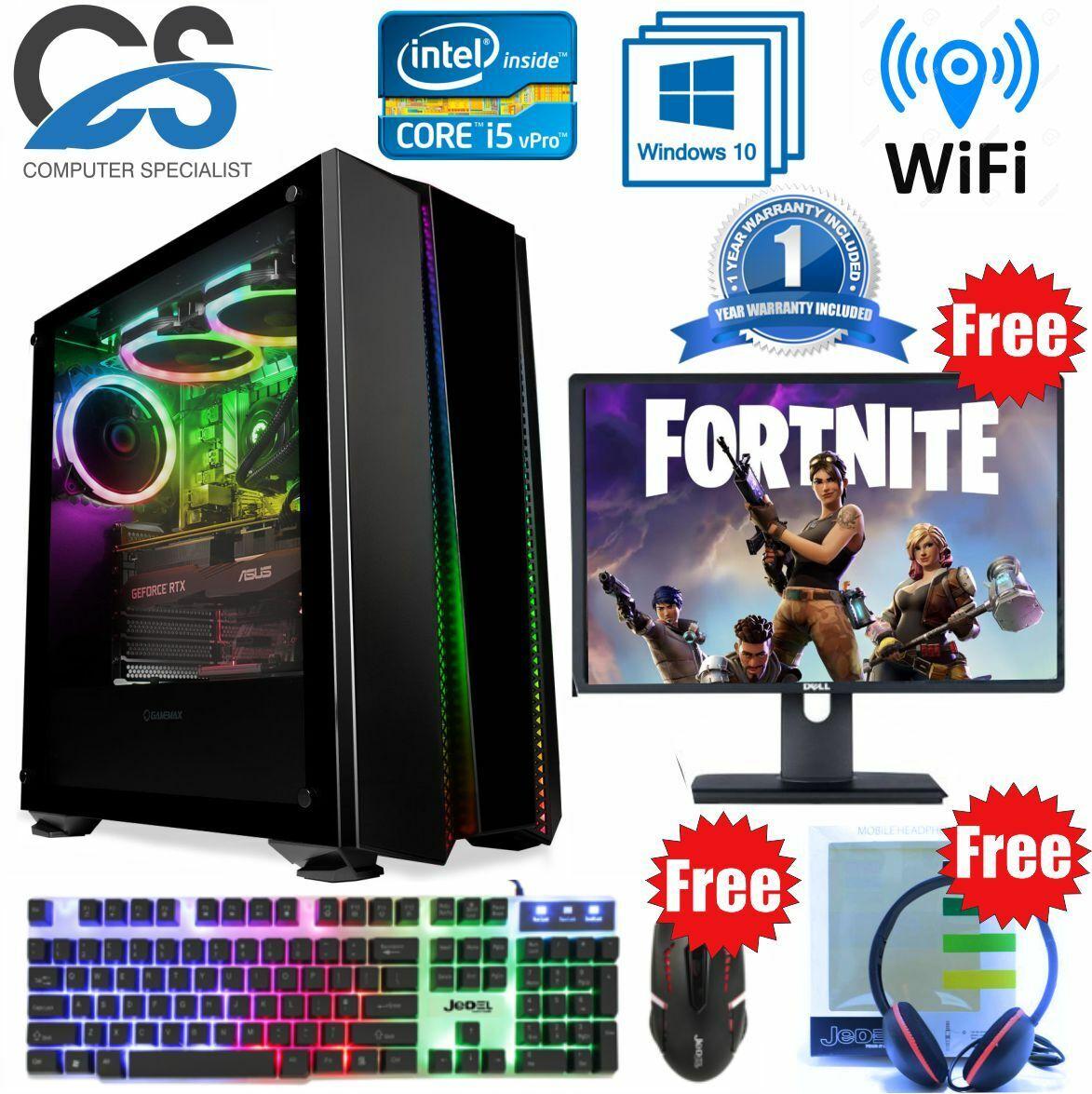 Computer Games - GameMax Gaming PC Computer Bundle Intel Quad Core i5 8GB 1TB 2GB GT710 Win 10