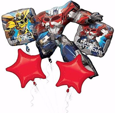 Transformers Optimus Prime Balloons Bouquet ~ Birthday Party Decoration Supplies - Transformers Birthday