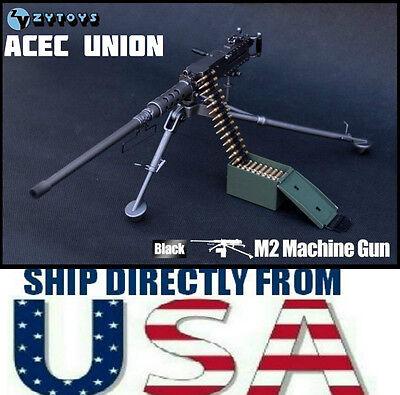 - 1/6 Scale U.S. Army Browning M2 Machine Gun BLACK For 12