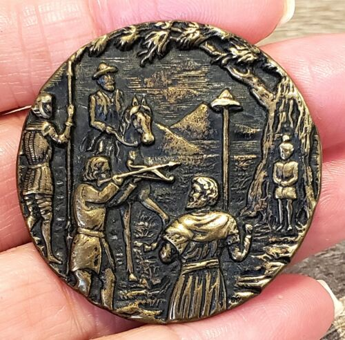 Large Antique Metal Picture Button…WILLIAM TELL…Book Price $400-$600