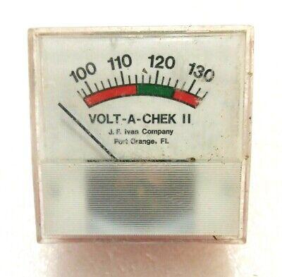 Vintage Volt-a-chek Tester Meter J F Ivan Company Made In Usa Model Ii