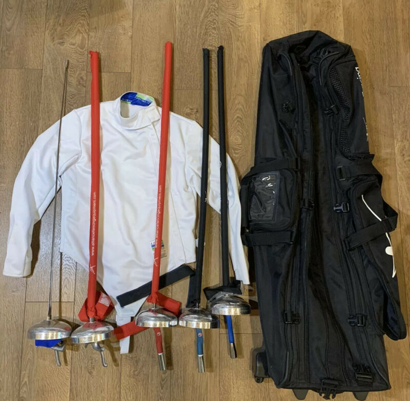 uhlmann Electric fencing swords X5 With Aliance Bag And Sz 50 Linea Jacket