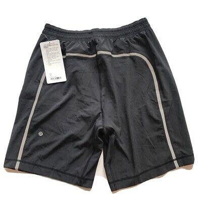"Lululemon Pace Breaker 9"" Men's Black Reflective Compression Lined Shorts NWT M"