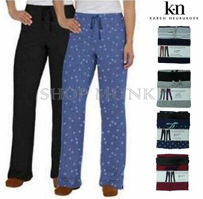 Live Love Lounge by Karen Neuburger Women's 2-Pack Sleep Pants NEW WITHOUT TAGS