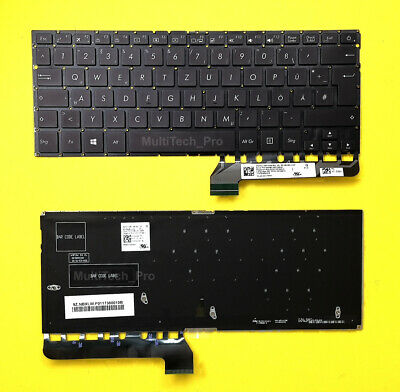DE Tastatur Asus ZenBook UX430U UX430UA UX430UAR UX430UN UX430UQ mit Beleuchtung