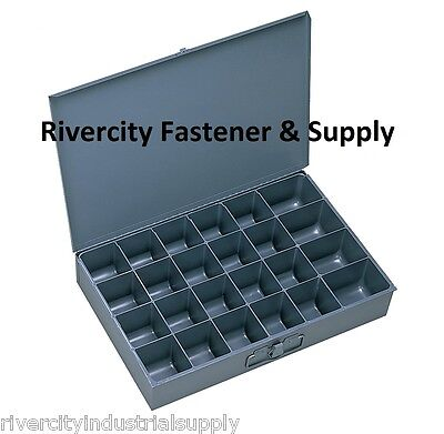(1) METAL 24 HOLE STORAGE BIN-CABINET-TRAY FOR NUTS,  BOLTS