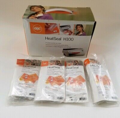 Genuine Gbc Heat Seal H100 Id Photo Quality Laminator W Pouches Box Manual