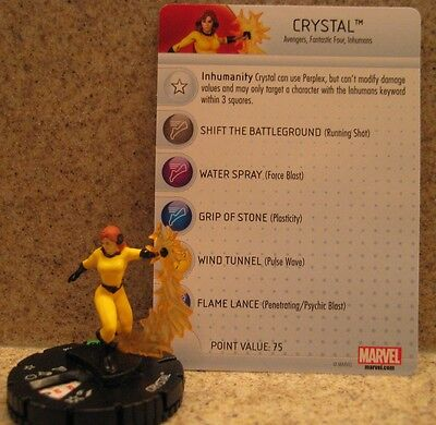 Heroclix Guardians of the Galaxy uncommon Crystal 026 w/card and brand new