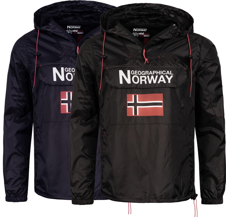 Geographical Norway Herren Regen Jacke FVSB Outdoor Windbreaker Sport schlupf