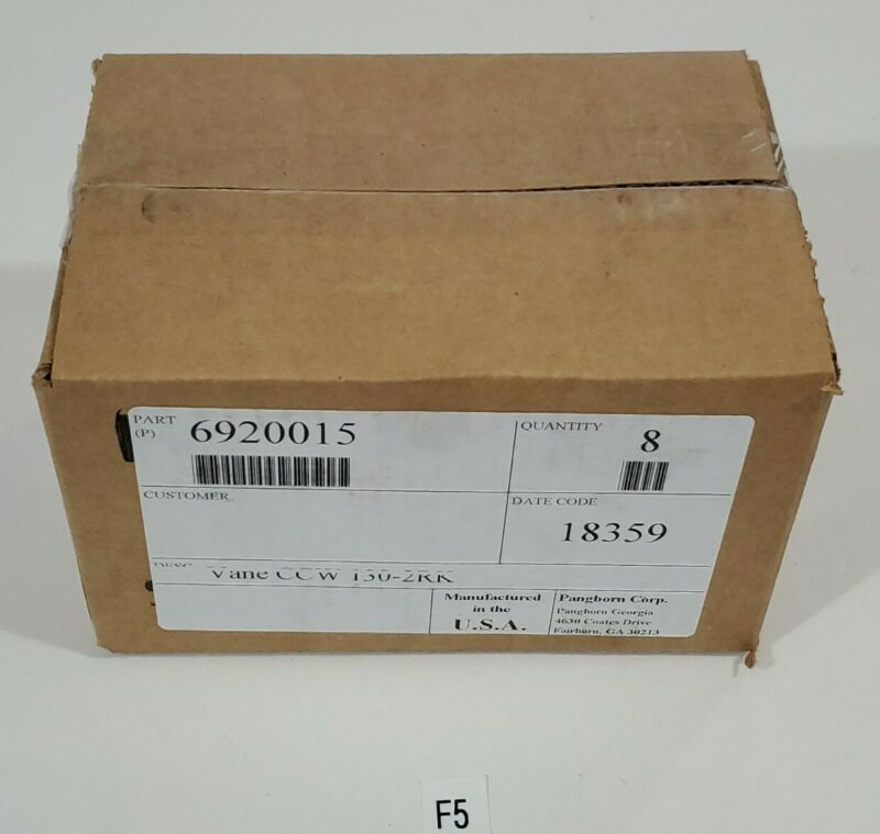 *NEW IN BOX* BOX OF 8 Pangborn 6920015 Shotblasting Vane CCW 130-2RK + Warranty!
