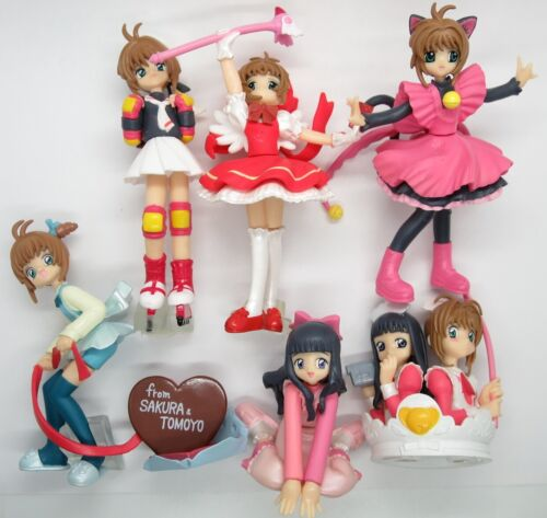 "CardCaptor Sakura (1998 TV Anime) 3.5"" HG Figure Set Collection Tomoyo Gashapon"
