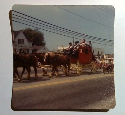 Vintage 70s Photo Parade With Horse & Buggy Amish Clothes Boys Riding Bicycles - Boys 70s Clothes