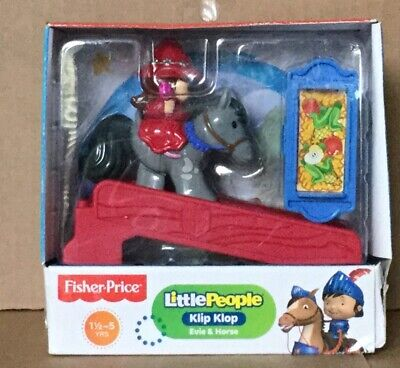 Fisher Price Little People Klip Klop Evie & Horse NEW