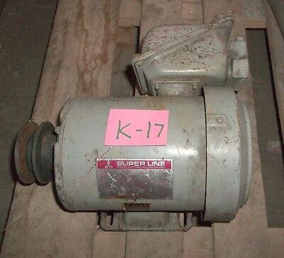 Used Mitsubishi Electric Superline 3ph Safety Induction Motor 4 Pole .75kw 34