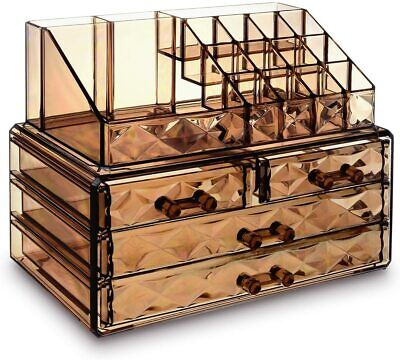 Make Up Organizers And Storage Desk Organizer With Drawers Desktop Set Elegant