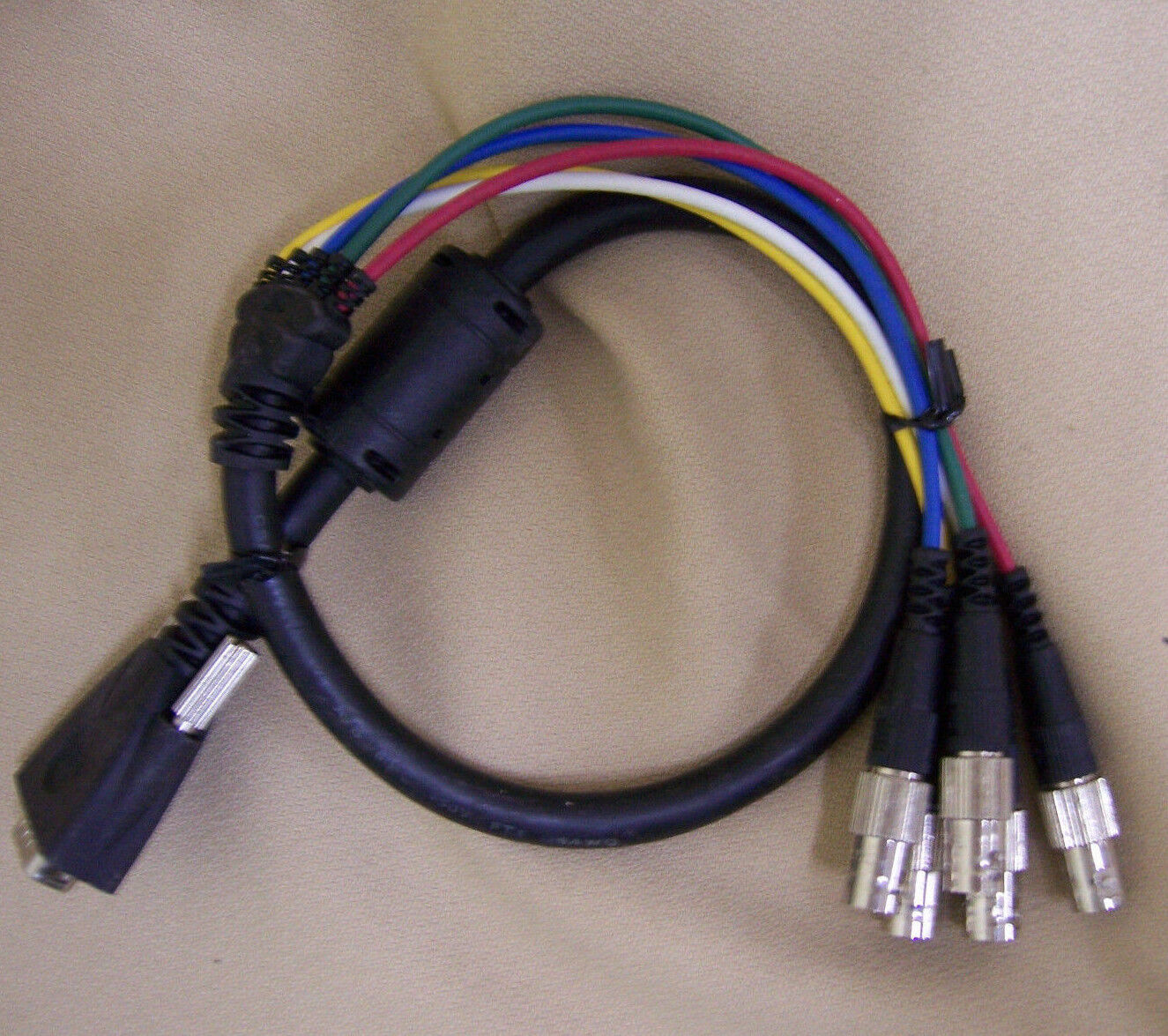 Liberty Wire & Cable LWC E-VGAM-5BNCF .5, 1 or 2 ft Male VGA to ...