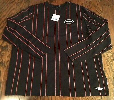 Puma Men's Big Sean Retro Patch Long Sleeve Shirt Soccer Football Size XL NWT