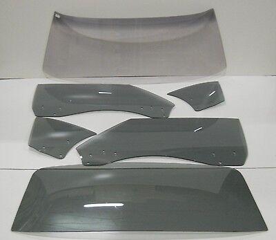 Camaro Door Glass (Glass 1968 1969 Camaro Firebird Hardtop Windshield Door Quarter Back Custom Grey )