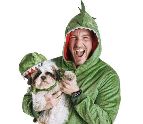 Bootique Dinosaur Roar Pet Parent Pajamas Halloween Costume Sz S/M