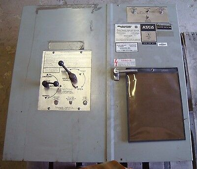 Asco 150 Amp Automatic Transfer Switch 208 Y 120 Vac 3 Phase Bulletin 940