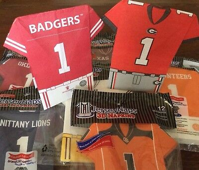 JerseyNaps 3D STAND UP Napkin/s Unfold to Full-Size, College FOOTBALL Party Team