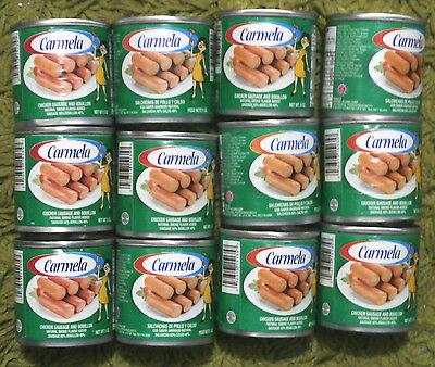 Salchichas Carmelas - Chicken Sausage and Bouillon (12 cans 5oz) *Puerto Rico*
