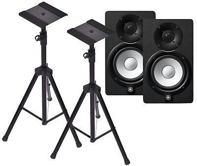 Yamaha HS5 Black Studio Monitors with Heavy Duty Speaker Tripods **NEW** (Yamaha Tripod)